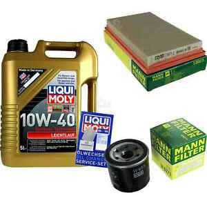 Inspection-Kit-Filter-LIQUI-MOLY-Oil-5L-10W-40-for-Mazda-MX-5-I-Well-1-6-1-8-323