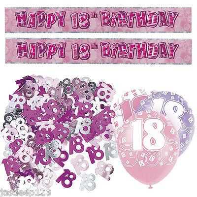 Rose glitz joyeux anniversaire 12ft fête bannière parties bannières décorations