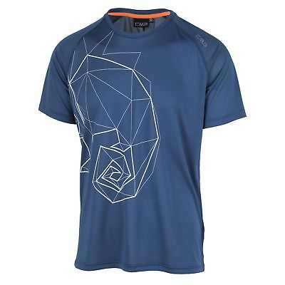 Cmp Laufshirt Funktionsoberteil T-shirt Blau Dryfunction Upf40 Leicht