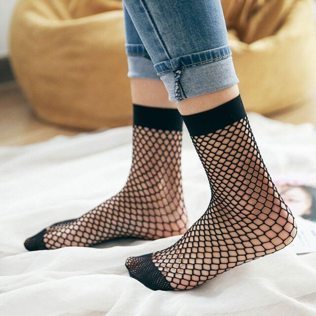 Women Mesh Sexy Ankle Socks Flat Mesh Socks Harajuku Mesh Socks Fishnet Socks
