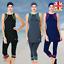 AlHamra-AL0140-Capri-Modest-Burkini-Swimwear-Swimsuit-Muslim-Islamic-Costumes-UK thumbnail 1