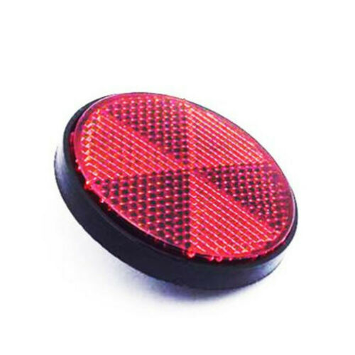 Plastic Bicycle Bike Round Reflector Night Cycling Reflective Accessories