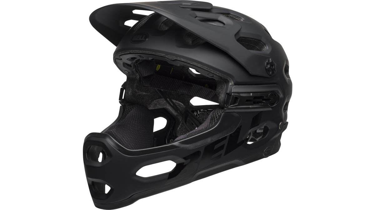 Bell Super 3R MIPS MTB MTB MTB Fahrrad Helm schwarz grau 2019 90f863