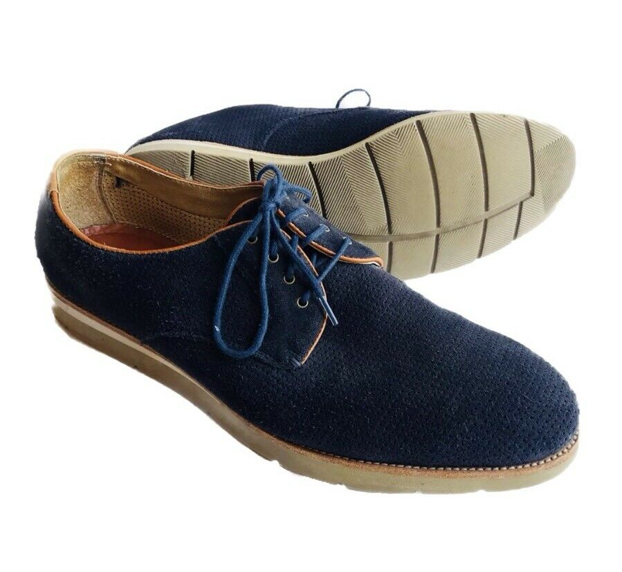 Johnston & Murphy Campton Perforated Lace-Up oxford shoes bluee Sheepskin 11.5 M