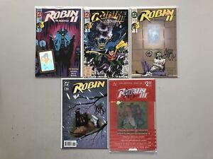 Lot-of-9-Chuck-Dixon-Signed-Batman-and-Robin-Comics-VF-Very-Fine