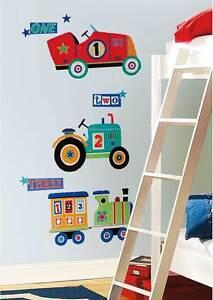 Details zu Wandtattoo Kinderzimmer Wandsticker Traktor Lokomotive Auto  Fahrzeuge XXL Wand