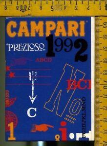 Calendario Anno 1992.Dettagli Su Calendario Prezioso Campari Anno 1992