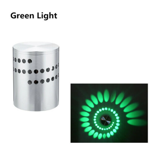 Modern 3W RGB LED Spiral Wall Lamp Wireless Sconce Wall Lights for Bar Cafe Home