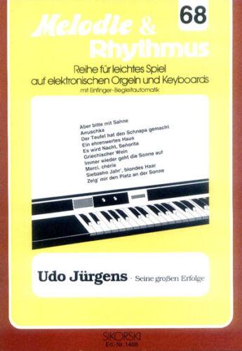 Udo Jürgens Songbook Noten Keyboard sehr leicht