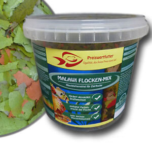 Malawi-Flocken-Mix-5Liter-Eimer-800-g-Cichlidenfutter-Flockenfutter-Fischfutter