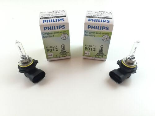 2 x Philips HIR2 Longlife Lampe 9012 9012LLC1 12V 55W Made in EU E1