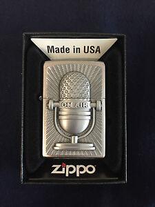 ZIPPO-Lighter-Feuerzeug-Modell-Microphone-Retro-Made-in-USA