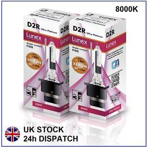 2-X-D2R-Bombilla-de-xenon-8000K-HID-Lunex-genuina-Compatible-con-85126-66050-66250