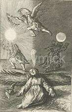 """A Child Dreams of The Passing of Time Boetius Adamsz Bolswert 17thC 7x5"""" Reprint"""