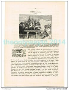 COLCHESTER-THE-BRIDGE-ESSEX-BOOK-ILLUSTRATION-PRINT-1882