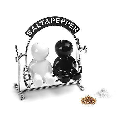 Witzige Salz-Pfeffermenage Salzstreuer Pfefferstreuer Gewürzmühle Streuer Retro