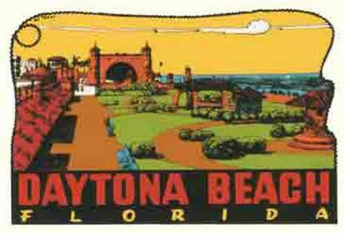 Daytona Beach FL   Florida  1950/'s  Vintage Style  Travel Decal Sticker