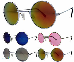 Herren-Damen-kleine-runde-Stil-Sonnenbrille-verschiedene-Farben-UV400