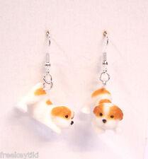 "NEW English Bulldog Dogs Puppies 1"" Mini Figures Figurines Dangle Earrings"