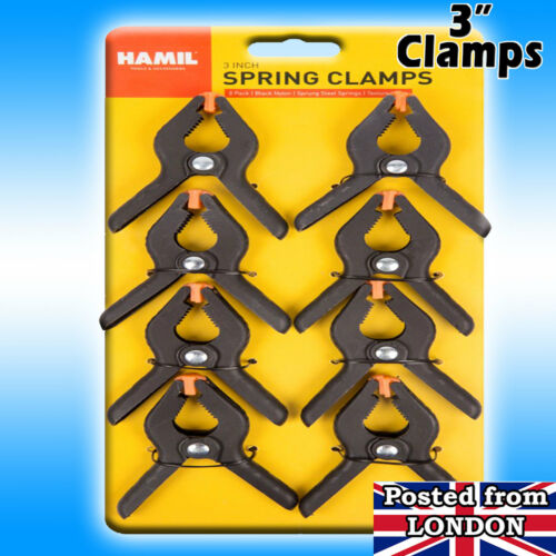 BACKDROP SUPPORT 3 inch Heavy Duty UK Spring Grip CLAMPS PRO STUDIO BACKGROUND