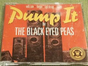 THE BLACK EYED PEAS PUMP IT RARE OOP 3 TRACK IMPORT REMIX CD FREE SHIPPING