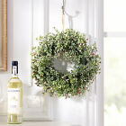 New Door Hanging Rose Bud Flower Wreath Wall Window Easter Holiday Decoration