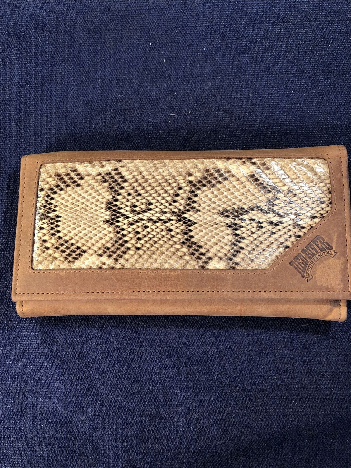 Leather And Snakeskin Check Book Holder Red River Leathersmiths Un Used