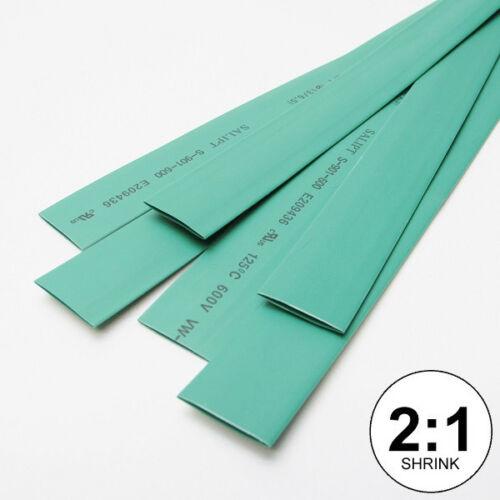 "5x24/"" = 10 ft 5//8/"" ID Green Heat Shrink Tube 2:1 ratio wrap inch//feet//to 16mm"