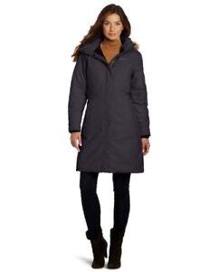 14eef7f36 Details about MARMOT WOMENS CHELSEA DOWN LONG JACKET COAT BLACK LARGE
