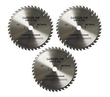 3 New 10 Inch CARBIDE TIP SAW BLADE 40 Tooth Blade Tool Smooth Clean Cuts