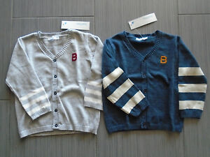 Nwt French Bout' Chou Baby Toddler Unisex Cardigan Gray Or Blue 24m Euro21.99 Harmonious Colors Clothing, Shoes & Accessories