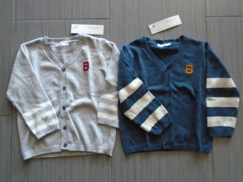 NWT French Bout/' Chou Baby Toddler Unisex Cardigan Gray or Blue 24M Euro21.99