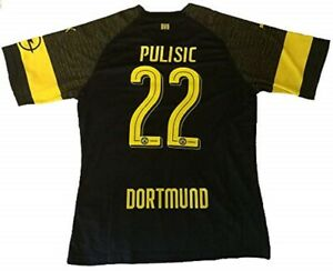 more photos 72b9e b36c0 Details about Christian Pulisic Black Dortmund Mens SOCCER JERSEY