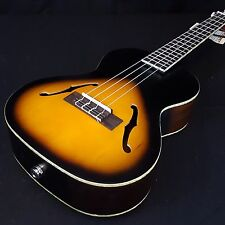 New KALA KA-JTE 2TS Sunburst Jazz F-Hole Tenor Acoustic Electric Ukulele Archtop