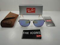 Ray-ban Caravan Sunglasses Rb3136 167/68 Bronze Copper/blue Mirror Lens 58mm on sale