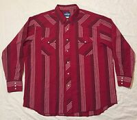 VINTAGE WRANGLER COWBOY STYLE BUTTON UP PEARL SNAPS ROCKABILLY WESTERN SHIRT XXL