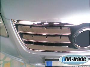 Radiador cromo barras de parrilla 4tlg v2a insertos para VW Touareg i 2002-10/2006