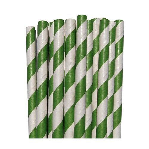 25 Vintage Party Paper Striped Straws Wedding Birthday Baby Shower Bridal DIY