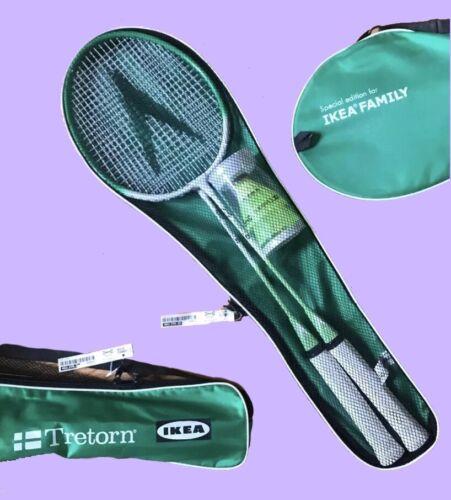 RARE LIMITED Tretorn faite pour IKEA Badminton 2 Raquette /& Birdie Combinaison Set