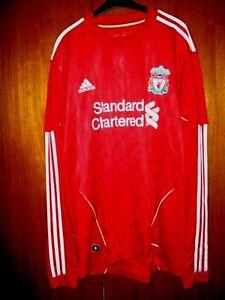 Liverpool-Football-Shirt-Adidas-2010-HOME-SHIRT-RARE-maniche-lunghe-taglia-L-42-44
