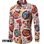 Fashion-Men-039-s-Summer-Casual-Dress-Shirt-Mens-Floral-Long-Sleeve-Shirts-Tops-Tee thumbnail 17