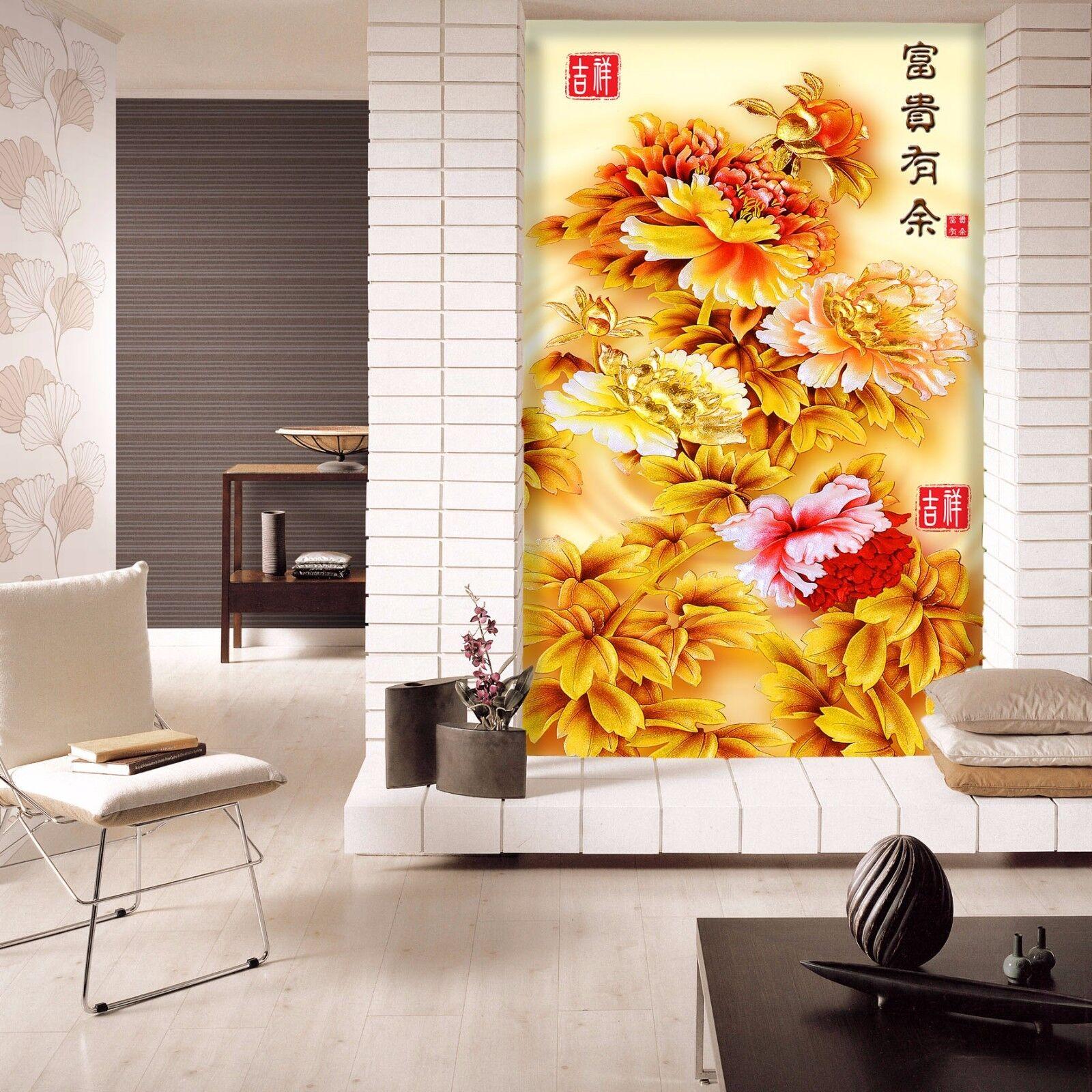 3D Pfingstrose Thema Tapete Wandgemälde Tapete Tapeten Bild Familie DE Summer