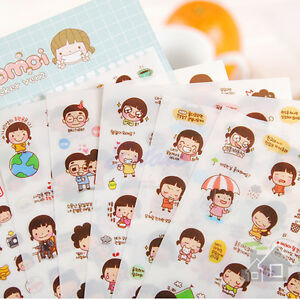 6-Sheets-Cartoon-Girl-Planner-Diary-Stickers-Biscuits-Calendar-Scrapbook-Decor