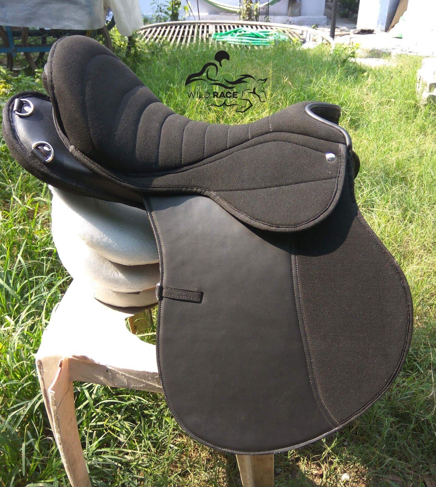 Silla de montar resistencia Negro de Cuero Sintético silla silla De Salto