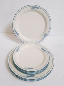 Lenox-Blue-Brushstrokes-8-Dinner-Plates-amp-Salad-Plates