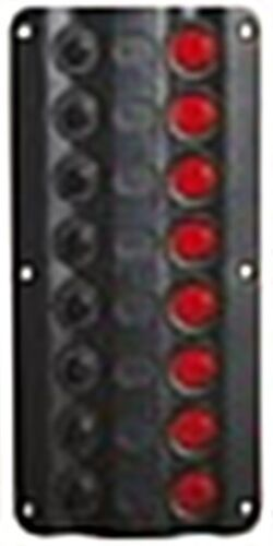 Osculati Electric Control Panel with 8 Rocker Switches and LED Lights