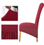 Long Back Chair Covers Fleece Fabric Seat Cover Home Dining Decorations XL Size