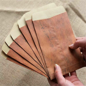 10-Pcs-Vintage-Brown-Paper-Envelope-Wax-Seal-Envelope-Postcard-Package