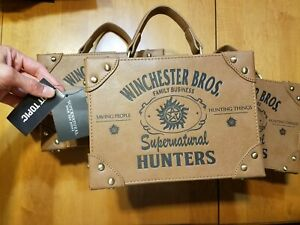 Bioworld Supernatural Hunters Suitcase Brown Trunk Crossbody Bag Handbag Purse