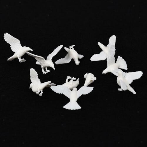 20Pack Mini Pigeon Animal Bird Modell Miniatur Puppenhaus Fee Home Decor